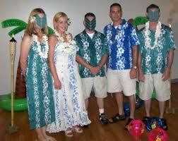 wedding party attire robbie mike s hawaiian luau wedding reception wedding party