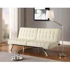 Modern Futon Sofa Bed Split Back Modern Futon Style Sleeper Sofa Bed In Vanilla Faux