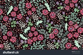 seamless folk pattern small wild flowers stock vector 687140524