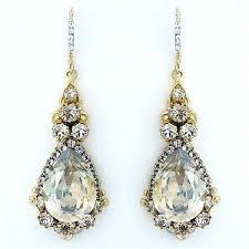 teardrop chandelier earrings teardrop chandelier bridal earrings eimat co