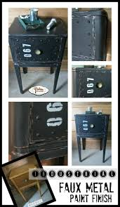 How To Repaint A Nightstand Make Wood Furniture Look Like It Has A Metal Industrial Look With