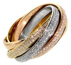 cartier diamond ring cartier diamond gold ring tradesy