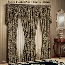 Black Gold Curtains Imperial Damask Empire Valances And Curtains