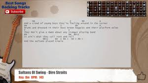 sultan of swing chords sultans of swing dire straits guitar backing track with chords