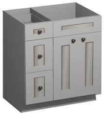Furniture Bathroom Vanity by 30 Inch White Shaker Vanity Combo Base Drawers Left Us Cabnet