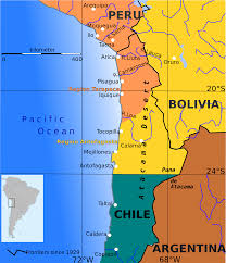 Map Of Pacific Ocean Chile Bolivia Sea Access Land Dispute Business Insider