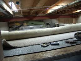 basement carpet finally