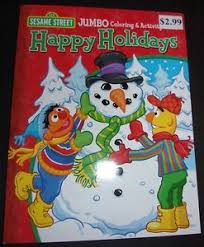sesame street christmas jumbo coloring u0026 activity book bert