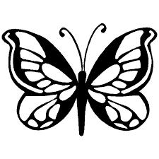 butterfly stencil clipart littlereasonstosmile me