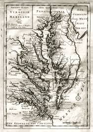 Map Of Virginia by Moll U0027s Map Of Virginia And Maryland 1720