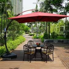 Overhang Patio Umbrella Outdoor Garden Comfort Outdoor Seating With Offset Patio