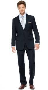 solid seville modern fit men u0027s suit navy bachrach