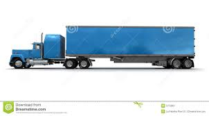 side view of a big blue trailer truck stock image image 5713861