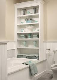 Built In Shelves In Bathroom Built Ins Boost Storage In Small Bathrooms