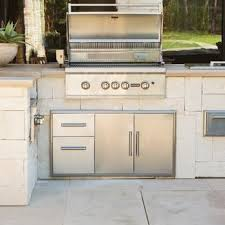 Stainless Doors For Outdoor Kitchens - coyote 45 inch double access door and access drawer combo ccd
