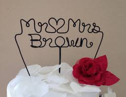 wire cake toppers custom cake topper wedding cake topper mr mrs wire cake