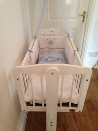 Swinging Crib Bedding Sets V I B Swing Crib Set In New Condition Comes With 2 Bumper Sets