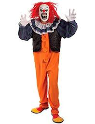 Pennywise Halloween Costume Mens Pennywise Horror Clown Halloween Movie Fancy Dress Costume