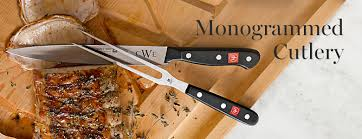 personalized steak knives personalized kitchen knives williams sonoma