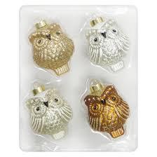 4ct gold owl glass ornament set wondershop target