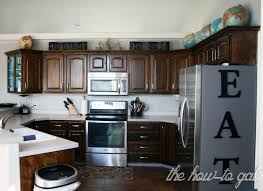 Finishing Kitchen Cabinets The How To Gal How To Refinish Kitchen Cabinets