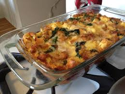 breakfast strata recipe with sweet italian sausage gruyere u0026 spinach
