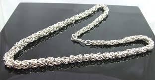 mens silver byzantine necklace images Sterling silver graduated byzantine necklace jewellery my design jpg
