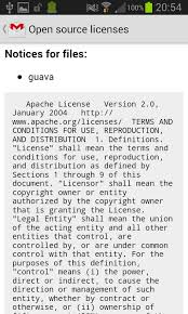 android license android open source licenses page adam speakman
