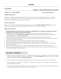 Plant Supervisor Resume Vijayan Resume