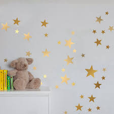 Nursery Decor Stickers Gold Wall Decal Vinyl Stickers Golden Rooms Wall