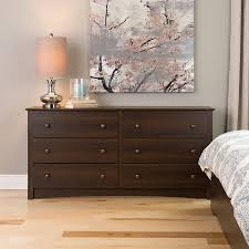 Chest Of Drawers Bedroom Furniture Amazon Com Prepac Fremont 6 Drawer Dresser Espresso Kitchen