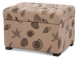 Fabric Storage Ottoman With Tray Custom Fabric Storage Ottoman