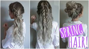 hair tutorial quick easy hair styles spring tutorial youtube