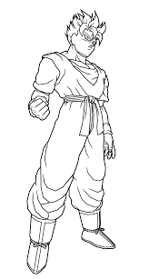 line art ssj future gohan by dbztrunksfreak on deviantart