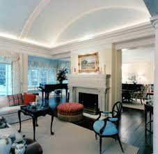 Living Room Ceiling Design Barrel False Decorative Gypsum Ceiling Design For Traditional