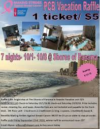 Vacation Condo Rentals In Atlanta Ga Making Strides Against Breast Cancer Pcb Vacation Raffle