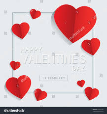 happy valentines day greeting card template stock vector 572721289