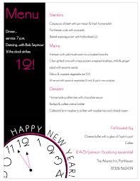 christmas party menu and new year u0027s eve dinner 2015 the atlantic inn