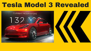 new tesla model 3 revealed tesla model 3 launch by elon musk
