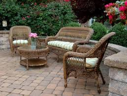 Wicker Patio Table Set Sb Sc Set Sanibel Wicker Patio Furniture Set
