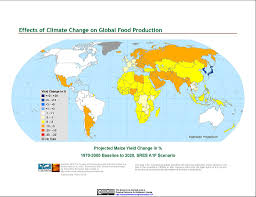 maps effects of climate change on global food production from effects of climate change on global food production from sres emissions and socioeconomic scenarios v1 1970 2080 maps
