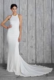 high neck halter wedding dress miller fj10008 size 0 wedding dress oncewed