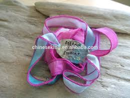 cloth ribbon silk cloth ribbon metal chain woven bracelet woven silk