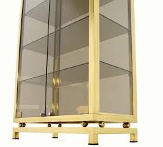 curio cabinet contemporary curio cabinet with mirrored frame and