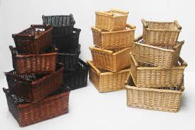 smartly walnut sizesshown basket wicker storage baskets and pole