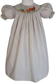 smocked cornucopia thanksgiving fall bishop dress