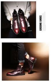 roegre handmade men boots genuine leather wine red winter men