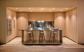 Countertops With Oak Cabinets Oak Cabinets And Satin Finish Stainless Steel Make Up This Modern