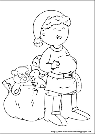 caillou printable coloring pages funycoloring