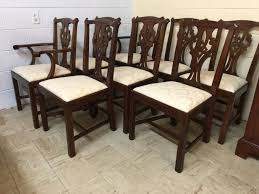 henkel harris mahogany 101 chairs chippendale set of 8 sold